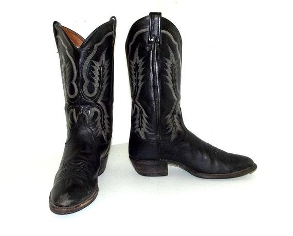 style Tony B 5 size boots Lama Black Cowboy Rockabilly 9 ZagnqS7a