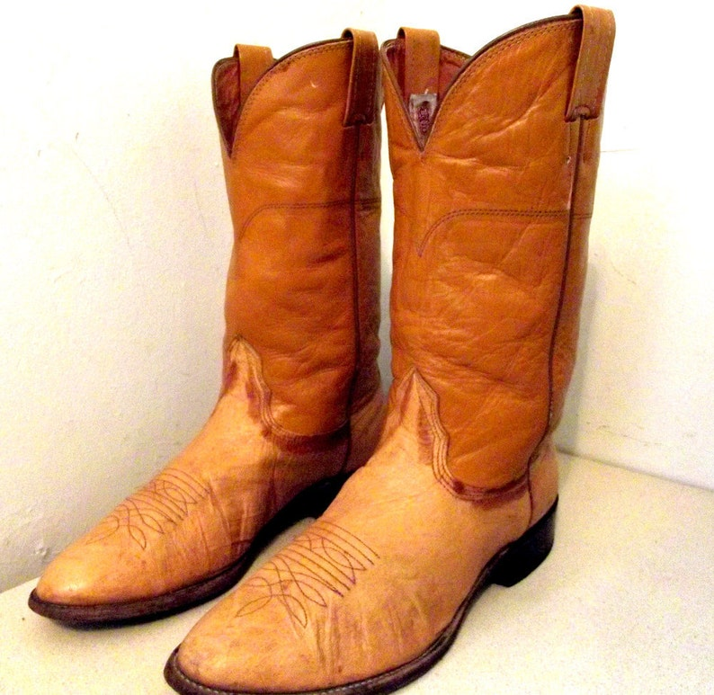 40dc67463609 Vintage Mustard Yellow Cowboy Boots Nocona brand size 9.5 D or
