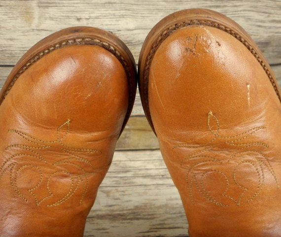 Size Cowgirl Narrow N Brown Vintage 5 Tan Boots 7 Acme Dingo Womens Cowboy Shoes PqAggY
