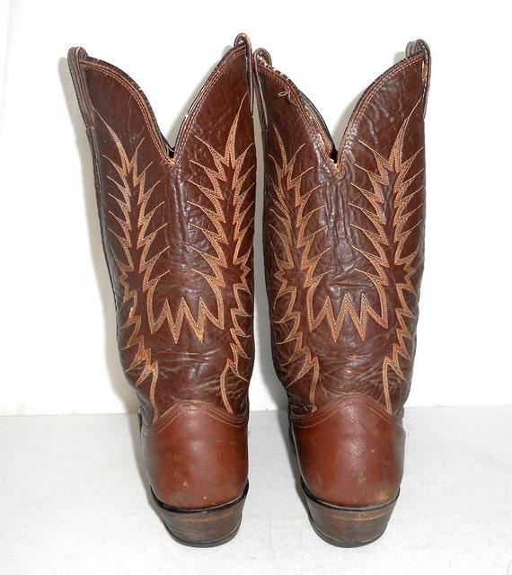 5 Wear 9 D Nocona 8 Womens Distressed Size Cowboy Boots Mens Brown Western RSw6Wxv4Fq