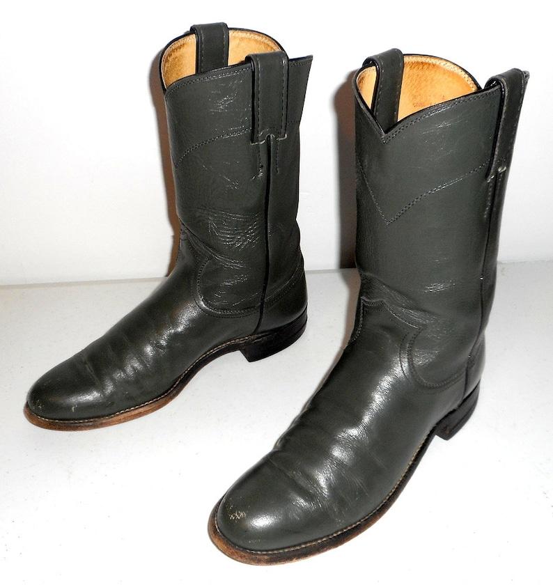 9342bc30a4 Mujeres Justin Ropers botas de vaquero Vintage talla 6 B gris