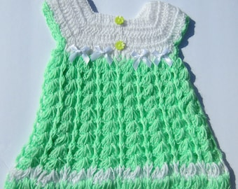 212a45e10d27 Blue dress baby crochet summer girls pullover infant sun dress