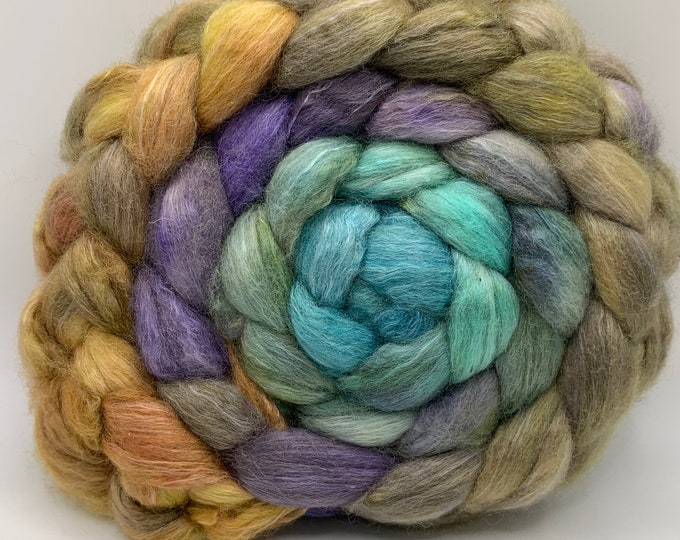 BFL/Cashmere/Bombyx 50/25/25 Roving Combed Top - 5oz - Kush Mint 1