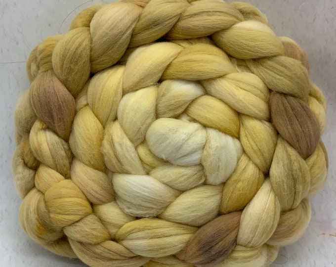 Merino 14.5 Micron Combed Top - 5oz - Butter Biscuits 1