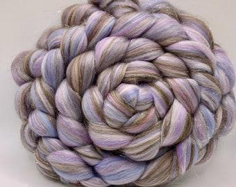 Spinning Fiber Merino/Silk/Glitter - 5oz - Moonstone