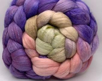 Merino 18.5/Camel/Bombyx Silk 50/25/25, Combed Top - 5oz - Baby Iris Buds 1