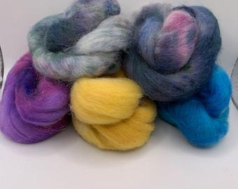 Felting Pack - CorrieX - Hand Dyed - 2.5oz (5)