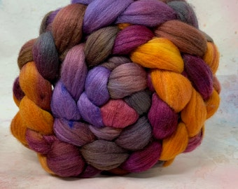 Polwarth/Rambouillet/Bombyx 25/25/50  Combed Top - 5oz - Firelight 2