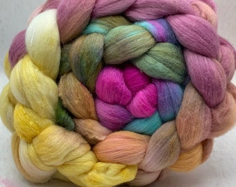 Merino 18.5/Bombyx 75/25 Micron Combed Top - 5oz - Candy Floss 2