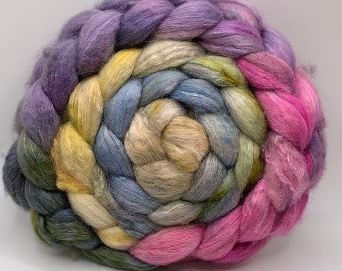 BFL/Cashmere/Bombyx 50/25/25 Roving Combed Top - 5oz - Weathered Wood 2