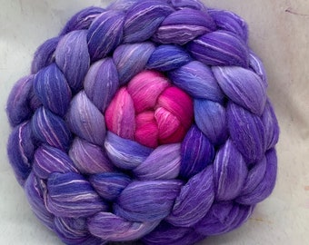 Spinning Fiber Organic Polwarth/Bombyx 80/20, Combed Top - 5oz - Shades of Salvia 1
