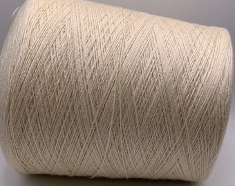 BFL SW/Tussah Laceweight Yarn - 970grams - Undyed