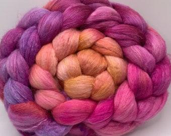 Merino 18.5/Camel/Bombyx Silk 50/25/25, Combed Top - 5oz - Nectarine 2