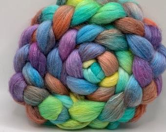Shetland/Mulberry Silk 75/25  Combed Top - 5oz - Pixie Sticks 1