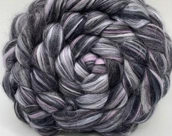 Spinning Fiber Merino/Silk - 5oz - Obsidian