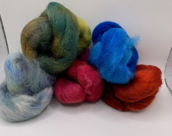 Felting Pack - CorrieX - Hand Dyed - 2.5oz (8)