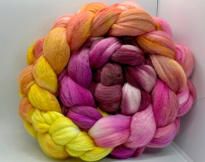 Spinning Fiber Polwarth/Bombyx 60/40 Combed Top - 5oz - Delight 2