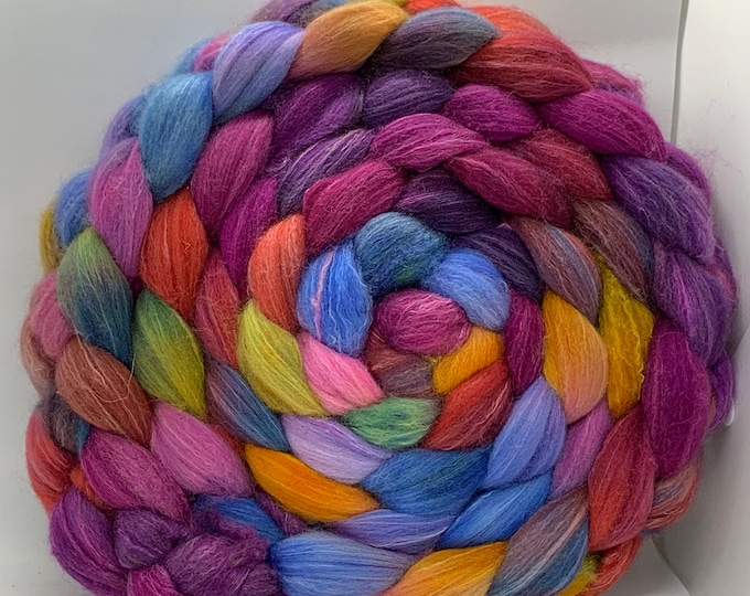 Spinning Fiber Organic Polwarth/Bombyx 80/20, Combed Top - 7.5oz - Jubilee 2