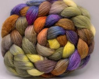 Shetland/Mulberry Silk 75/25  Combed Top - 5oz - Sweet Gum 2