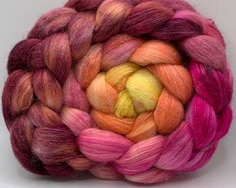 Shetland/Mulberry Silk 75/25  Combed Top - 5oz - Mango Lassi 2