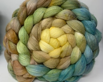 Spinning Fiber Organic Polwarth/Bombyx 80/20, Combed Top - 5oz - Kentucky Pottery 1