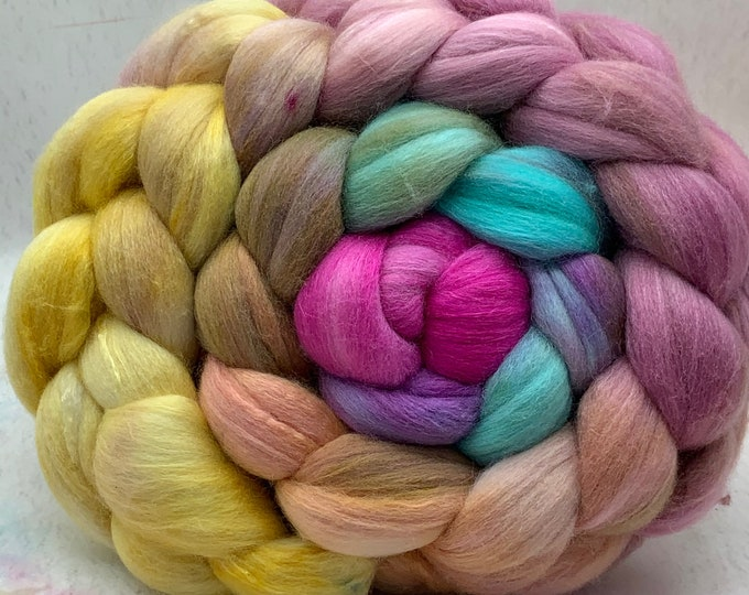 Merino 18.5/Bombyx 75/25 Micron Combed Top - 5oz - Candy Floss 1