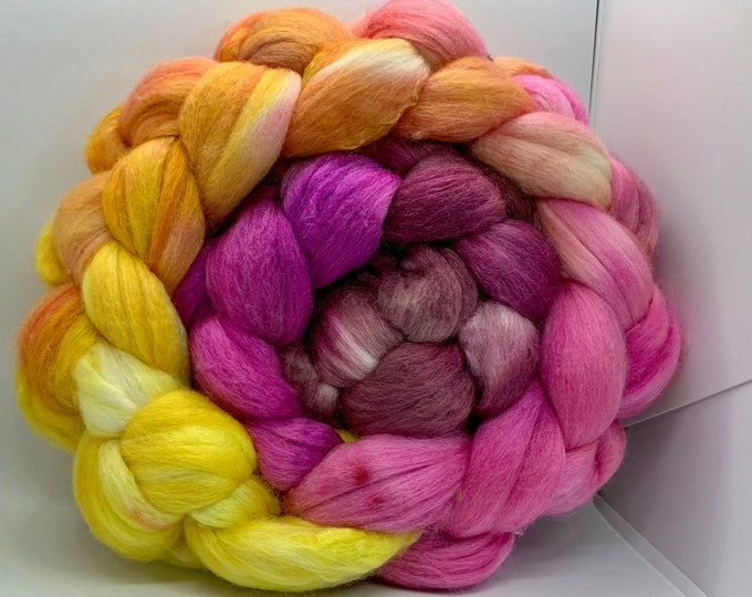 Spinning Fiber Polwarth/Bombyx 60/40 Combed Top - 5oz - Delight 1