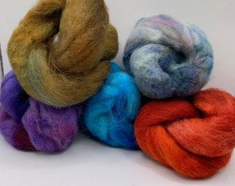Felting Pack - CorrieX - Hand Dyed - 2.5oz (4)