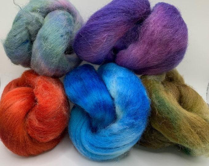 Felting Pack - CorrieX - Hand Dyed - 2.5oz (1)