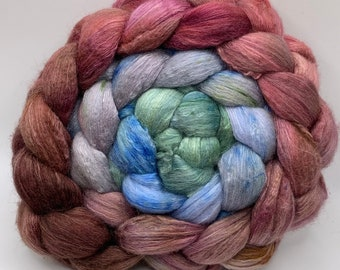 Spinning Fiber Organic Polwarth/Bombyx 80/20, Combed Top - 5oz House Pixies 2