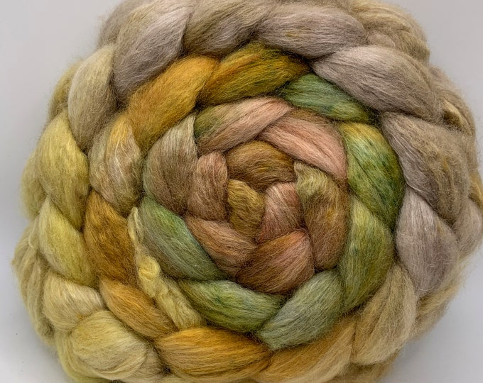 BFL/Cashmere/Bombyx 50/25/25 Roving Combed Top - 5oz -Butter Biscuit 1
