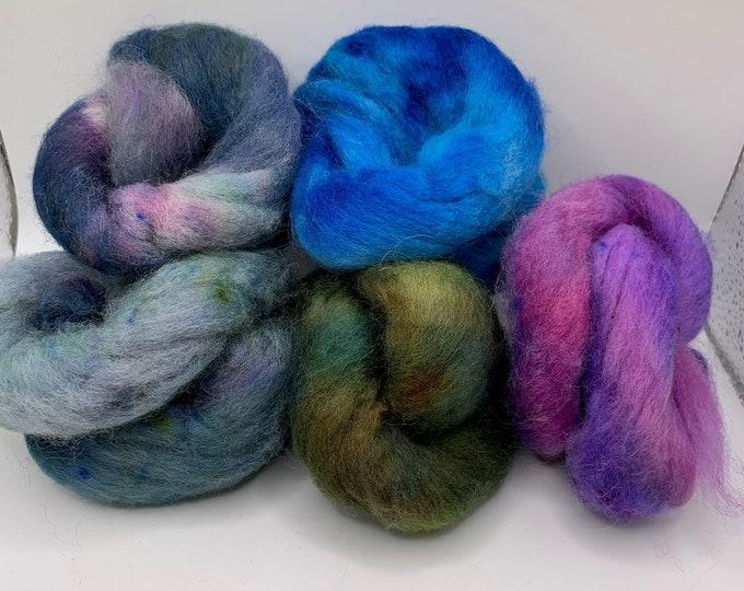 Felting Pack - CorrieX - Hand Dyed - 2.5oz (6)