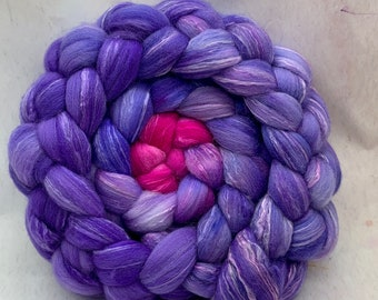 Spinning Fiber Organic Polwarth/Bombyx 80/20, Combed Top - 5oz - Shades of Salvia 2