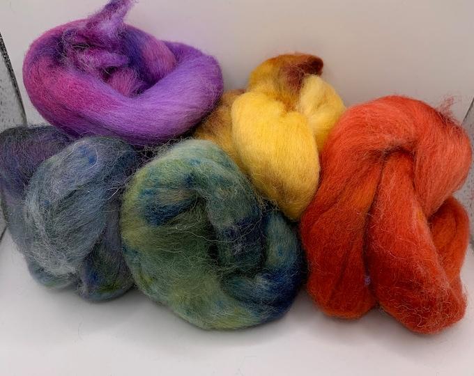 Felting Pack - CorrieX - Hand Dyed - 2.5oz (7)