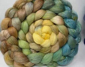 Spinning Fiber Organic Polwarth/Bombyx 80/20, Combed Top - 5oz -  Kentucky Pottery 2