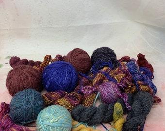 Odd Yarn Lot - Saori Weaving Yarns - Mini Weaving Yarns - 15 oz
