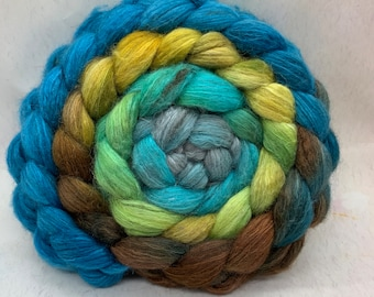 BFL Swirl/Bombyx 75/25 Combed Top - 5oz - Cliff Forest 2