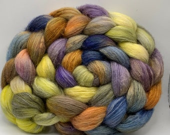 Shetland/Mulberry Silk 75/25  Combed Top - 5oz - Sweet Gum 1