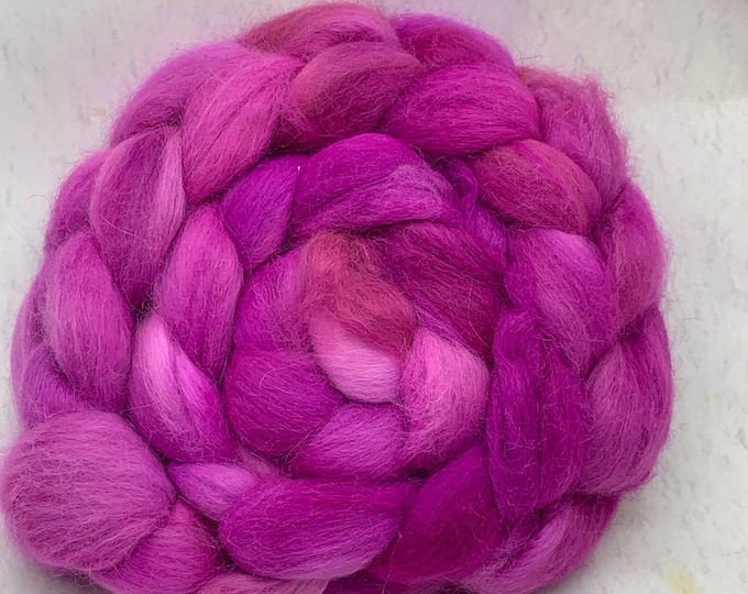 Angora Combed Top - 2oz - Orchid 1