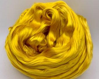 Spinning Fiber Mulberry Silk - 2oz - Golden Yellow