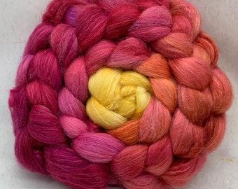 Shetland/Mulberry Silk 75/25  Combed Top - 5oz - Marmalade 2