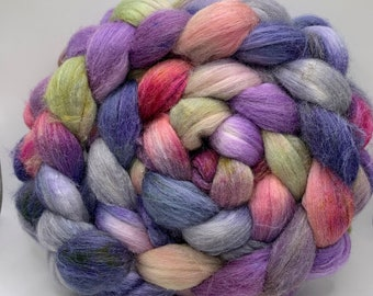 Polwarth/Rambouillet/Tussah 25/25/50  Combed Top - 5oz - Pretty Pigeon 1