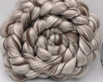 Spinning Fiber Polwarth/Yak/Mulberry Silk 50/25/25 - 5oz - Undyed
