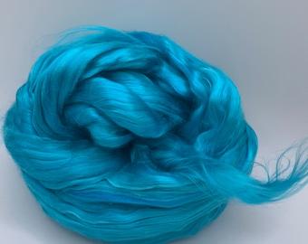 Spinning Fiber Mulberry Silk - 2oz - Turquoise