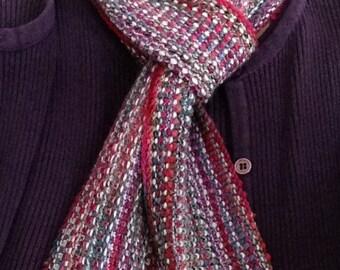 Hand Knit Linen Stitch Scarf