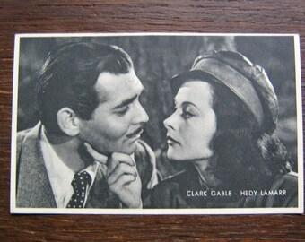 B.W. Promo Card Kwatta.  Clark Gable and Hedy Lamarr