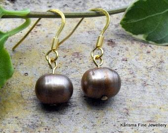 Gold Pearl Earrings,  Earrings Gold Drop, Under 25 Dollars