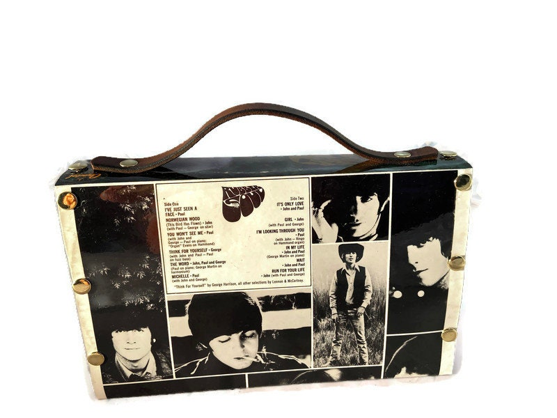 Beatles Rubber Soul One-of-a-Kind Bag from actual album cover - product images  of