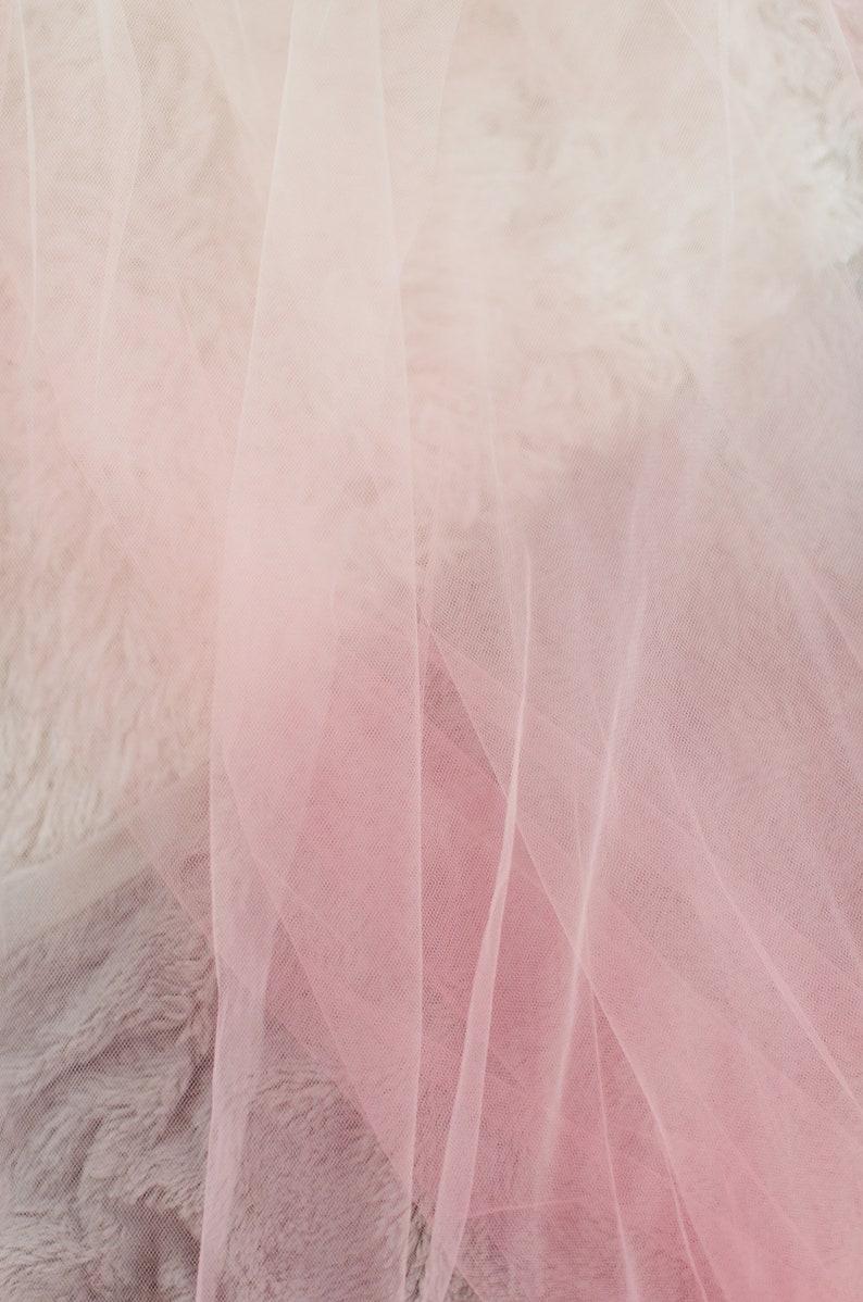 Pink Ombre Veil Custom Veil by Veiled Beauty Blush Veil-Soft Tulle Fabric-Dip Dyed Color-2 Layer Veil-Chapel Length Veil-Cathedral Veil-1710
