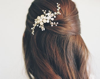 Rose Gold Hair Vine-Swarovski Crystals-Rhinestone Hair Vine-Silver Wedding Tiara-Bohemian Crown-Rose Gold Headpiece-Crystal Halo- 1602